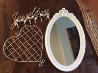 NEXT Shabby chic house decorations mirror jewellery photo bedroom bathroom decoration
