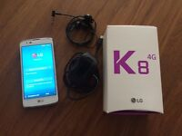 LG K8 Phone + 30GB SD Mem Card.