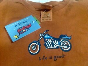 New Life Is Good Long Sleeve Motorcycle T Shirt  Kingston Kingston Area image 1