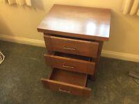 Three drawer bedroom cabinet