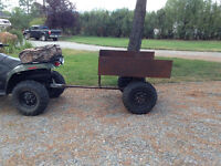 Atv trailer cart