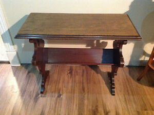 Antique Walnut Magazine Table