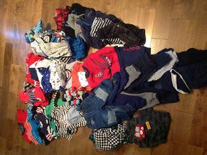 Lot de vêtements 9-18 mois portés par 1 seul enfant très propres