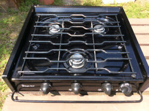 Propane stove top for RV or boat