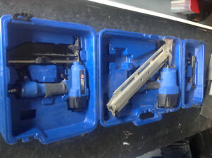 Set of 3 Campbell Hausfeld air nailers in perfect condition