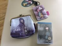 Santoros key ring ,small note pad, and coin purse