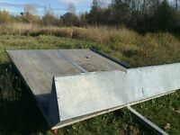 Double bed Easy Hauler galvanized trailer-1500$