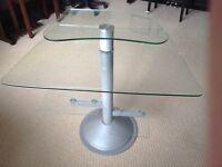 Computer Desk - Glass & Chrome - Modern Design