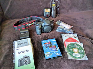 Canon EOS 7D with accessories