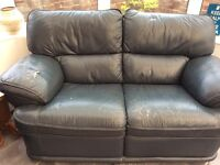 Free 2 seater blue sofa with 1 matching chair