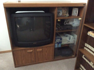 Tv cabinet with tv