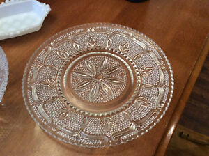 Various pieces of Depression Glass