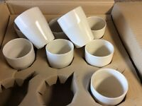 Box of 36 white mugs