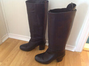 Aldo navy leather boots