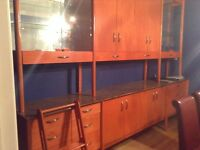 Dining room buffet and display unit