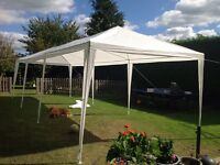 9m X 3m party marquee (new, put up for photo only) complete with all sides
