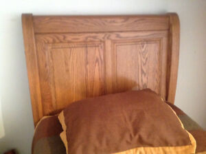 New Oak Tree long twin bed and mattress