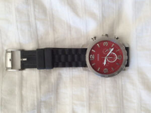 Fossil red dial watch