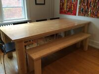 Harvest table and bench