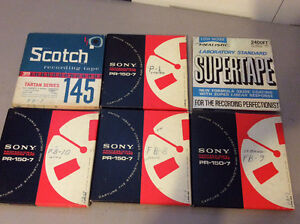 Lot of 6 Reel to Reel Recording Tapes 7 inch - Sony & Scotch
