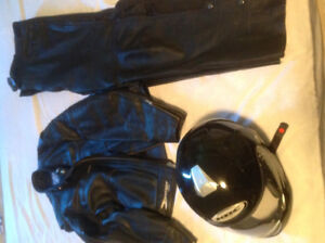 Motorcycle Leathers and Helmet