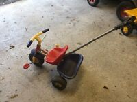 Push along 3 wheel trike parent handle