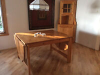 IKEA DINNING TABLE  AND HUTCH SET