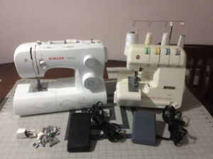 Singer sewing machine and serger