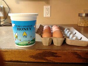Farm Fresh Honey and Eggs or Sale