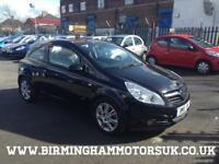 2008 08 Vauxhall Corsa Design 1.4i 16v (a/c) 3DR Hatchback BLACK + LOW MILES