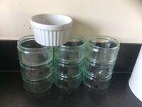 Glass ramekins for cooking/desserts/weddings/decoration