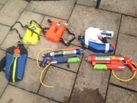 3 x Children's/Kids Nerf Water Guns (individually priced), Used. In Good Condition