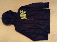 Boys kids lightweight reversible Nike jacket coat size large in black school coat