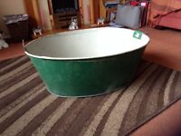 Galvanised tub /planter