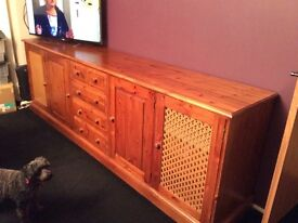 Large hand made pine sideboard