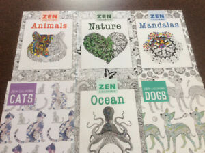 Adult colouring books and prismacolor colouring kit