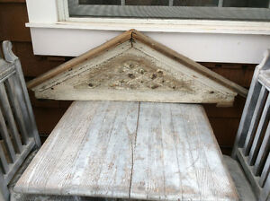 Antique window trim hood