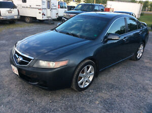 2005 Acura TSX 2.4 vortex 6 speed loaded leather July MVI $2700.