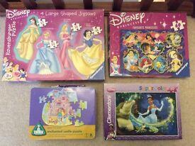 Disney Princess Jigsaw Puzzle Toy Children's Girls Games Bundle