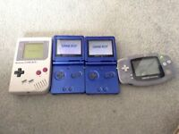 Lot of gameboys with charger