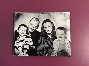 Your photograph engraved on canvas