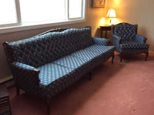 French provincial sofa and chair for sale