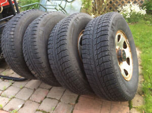 Gently used winter tires on rims