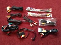 Selection of AV aux cables £2 EACH or make me an offer