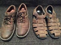CLARK SHOES AND BASS SANDALS SIZE 10