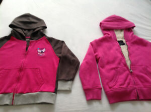2 pink hoodie jackets size 6. Both $8