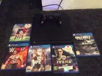 Playstation ps4 slim with 5 games bargain !!!