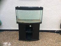 Juwel bow front open topped aquarium vivarium fish tank and cabinet