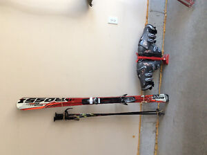 Skis,poles boots