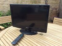 Panasonic TV with remote
